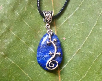 Celtic Necklace: genuine lapis lazuli