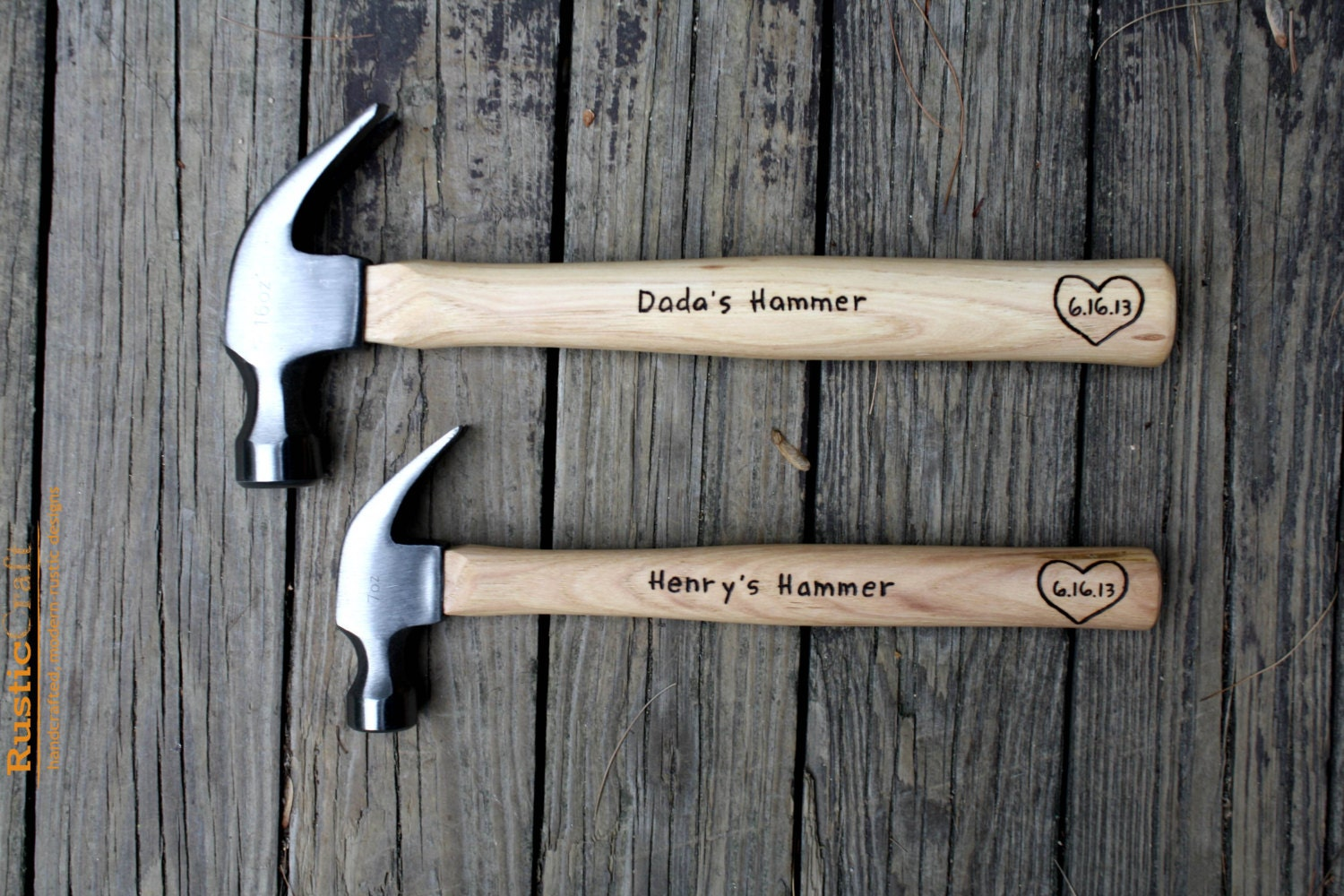 Top Father and Son Personalized Hammer Set Engraved Hammer CS38