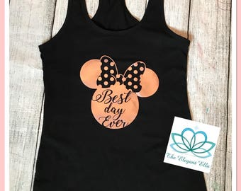 Minnie mouse best day ever, mommy and me, Best Day Ever mickey shirt, ROSE GOLD Minnie me shirts, mommy and me shirts, Disney shirts, Minnie
