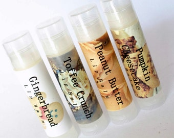 Lip Balm Bundle Of 3 Shea Butter Cocoa Butter Lip Care  Tube Pick Own Scent