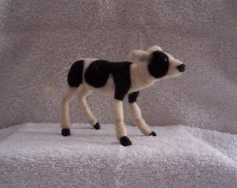 Needle Felted Wool Calf