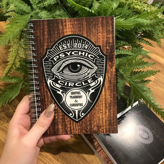 Psychic circle 5x7 notebook LINED 100 pages