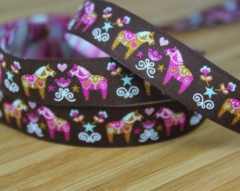 Ribbon horse farbenmix 15mm by the yard