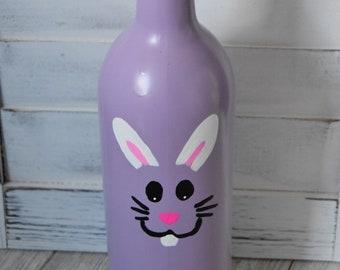 Bunny Face Wine Bottle / Easter Decoration / Spring Decoration / Spring Decor
