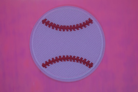 Baseball Iron on Patch