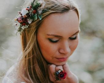 Boho hair comb  Woodland hair Wedding hair comb Floral hair comb Bridal hair comb Hairstyle Bridal hair fashion accessories