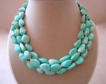 Coyote -- Arizona Turquoise Multi-Strand necklace