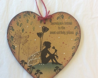 Moments like this - magical fairy mdf heart