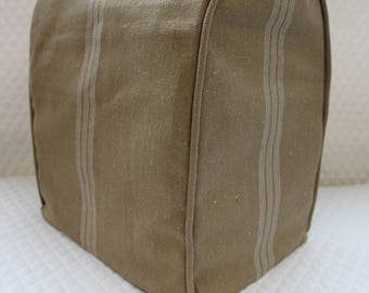 Brown Feedsack  KitchenAid Mixer Cover