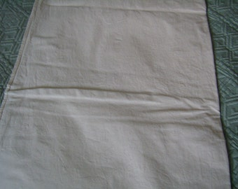 Vintage 40's / linen and cotton, linen, great coverlet, French linen sheet.