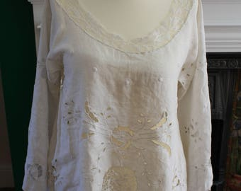 1940s make do and mend lace top