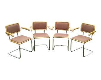 VINTAGE Mid Century Modern Breuer Cantilever CESCA Arm Chairs ITALY