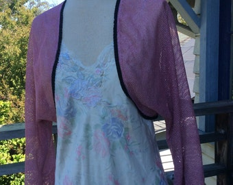 Pink Bolero Jacket, Pink shrug, pink and Silver Shrug,ladies shrugs, bolero shrug, shrugs for dresses