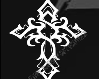 Cross Car Decal, Christian Decal, Christian Car Decal, Religious Decal, Vinyl Decal, Gift For Her, Gift For Him, Cross Decal, Cross Vinyl