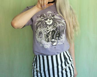 Spooky Cute Lavender Pastel Witch Shirt