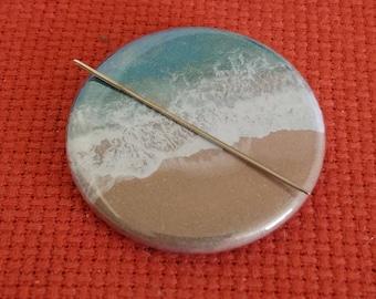 Beach Scene Needle Minder/Magnet/Pin Back