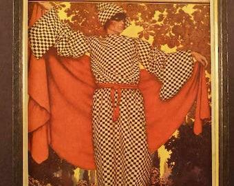 Vintage SIGNED Maxfield Parish Life Magazine Masquerade Print Lithograph Picture