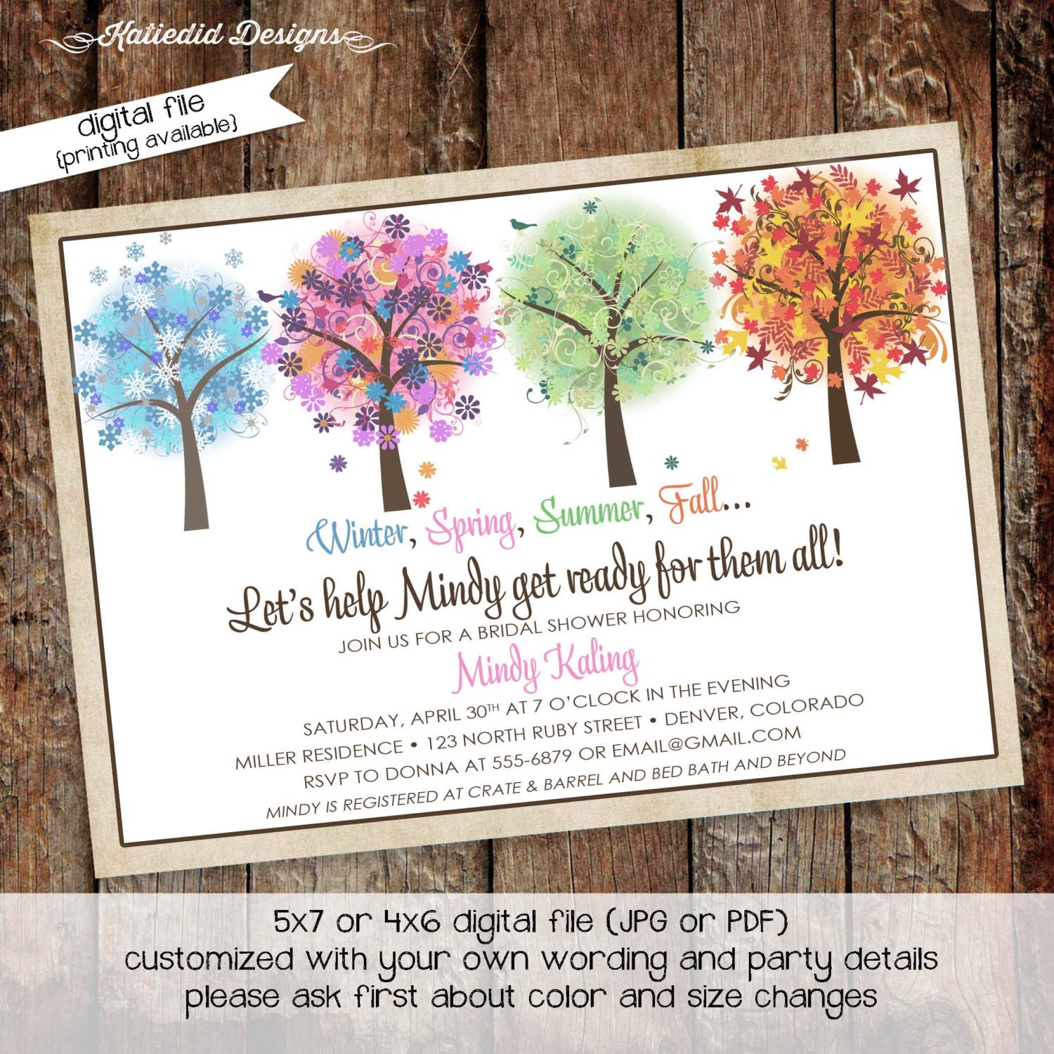 Couples Bridal Invitation women only shower stock the bar co-ed ...
