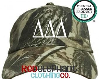 Delta Delta Delta Hat, Monogrammed Camo Hat, Monogram Baseball Cap, Monogram Camouflage Hat, Personalized Baseball Hat, Sorority Gift, ΔΔΔ