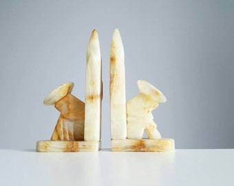 Vintage Mexican marble/onyx cactus bookends