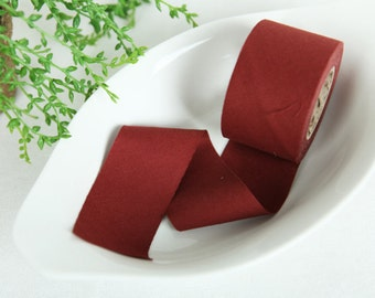4 cm New Solid Series Cotton Bias - Red Brown - 10 Yard roll - 81445-063