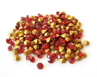 36 Swarovski Siam Red 20PP 2.5mm Rhinestone Crystal