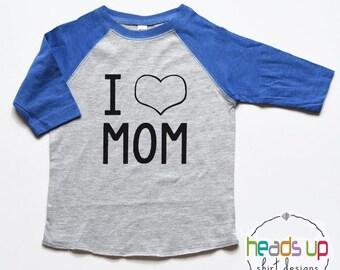 I Love Mom Baby Bodysuit Boy/Girl - Mother's Day t-shirt Toddler Boy/Girl - I Heart Mom Tee Kids - Trendy t shirt - Baby Shower Gift New Mom