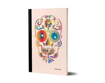 Journal Daily, Sugar Skull, Lined Journal, 47A1539639584