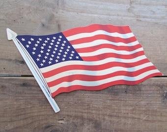 Die Cut American Flag July Fourth Holiday Dennison Patriotic