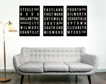 Charlotte NC, North Carolina Art, Poster Print, Wall Decor, Art, Poster, Living Room Wall Decor, Housewares, Housewarming Gift, Home Decor
