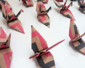 Set of origami cranes: Zig Collection