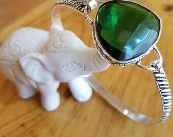 Emerald Bangle Bracelet