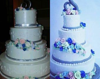 Wedding Cake Replica Ornament, custom wedding cake ornament, Christmas ornament, miniature wedding cake, first Christmas gift, anniversary