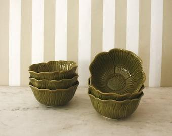 Set of 6 Belmar Pottery Artichoke Bowls
