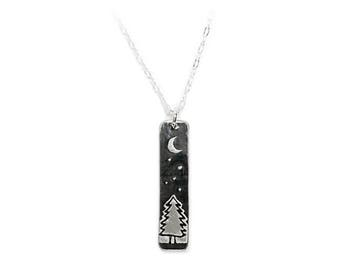 Tree Night Skinny Bar Necklace