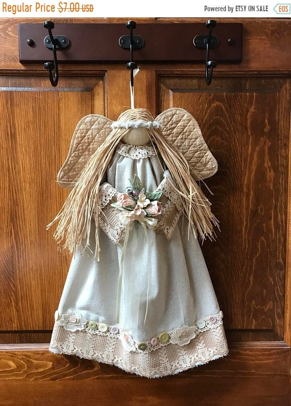 """ON SALE Mailed Pattern """"Joie"""" 20"""" Hanging Country Victorian Angel Pattern FH-174"""