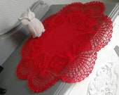 little red hearts tablecloth