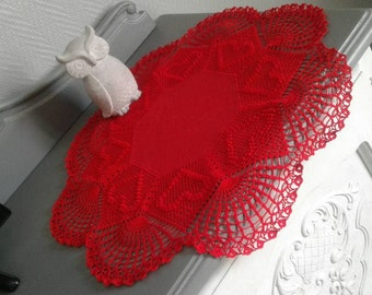 petite nappe coeurs rouge