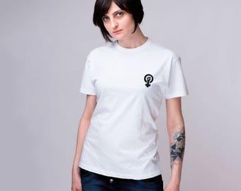 GRL PWR Minimalist Girl Power Shirt  Embroidered Protest Shirt Political Shirt Protest Shirt Pastel Shirt Embroidered t shirt Tumblr GO1149