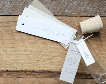 Letterpress Calligraphy Gift Tags, Just For You, Set of 8