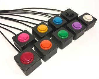 USB Button - Mini Photobooth button - Select a Color - Go button - Arcade style