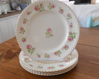Set of 4 Windsor Ware cake plates by Johnson Brothers