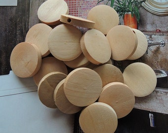 25 Pcs 15mm Natural Wood Circles Wooden discs Unfinished round disk  Bead  (W155)