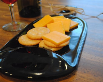Fused 1.5L Wine Bottle Cheese tray
