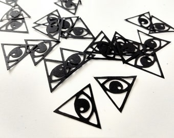 Illuminati Confetti - Triangle Illuminati Birthday Theme Paper Confetti -Conspiracy Theory Mystery Theme Party