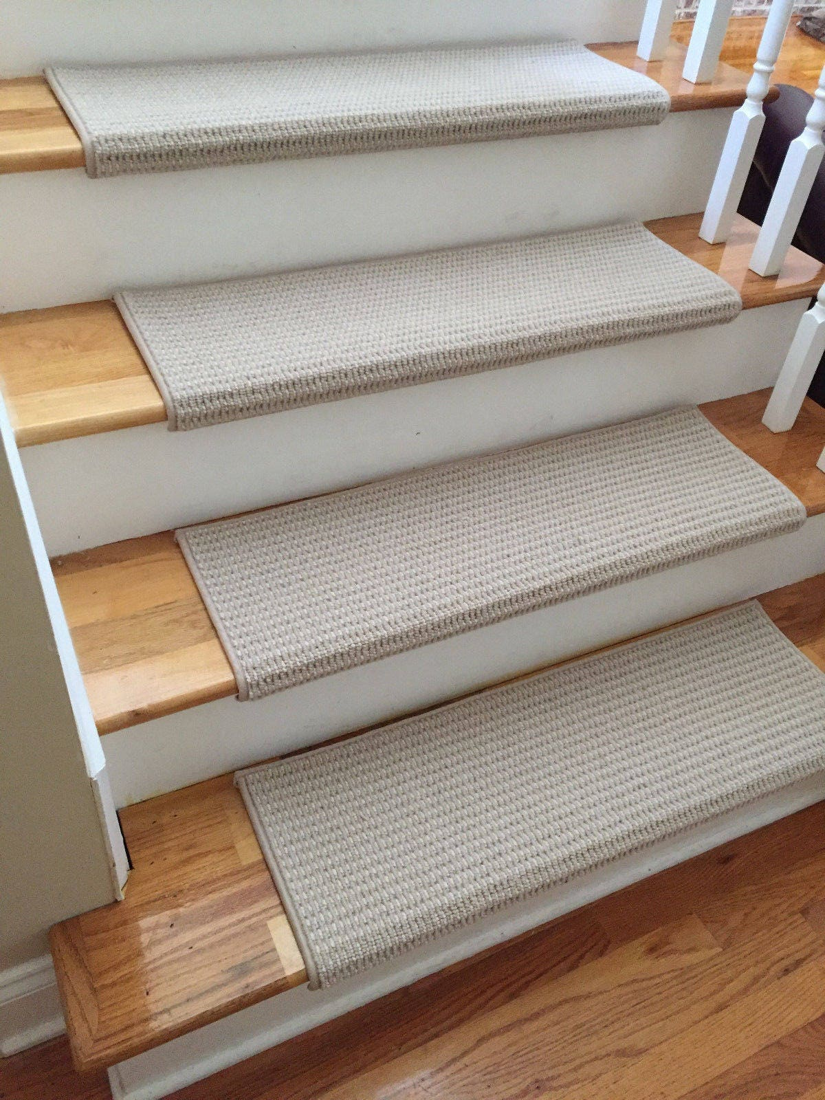 Sunrise Evening Cloud 100% New Zealand Wool! TRUE Bullnose™ Carpet Stair  Tread Runner Replacement For Style, Comfort U0026 Safety (Sold Each)