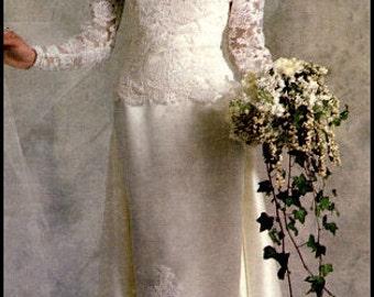 Vogue American Bridal Original 1829  Misses' Dress Size 10 UNCUT