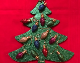 Sparkly Christmas Tree Wall Hanging