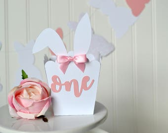 Bunny Favor Box - Some Bunny is One - Bunny Party Favors - Bunny First Birthday - Some Bunny is One Decor - Bunny Birthday Party