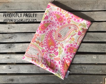 "10""x13"" Travel Wet Bag -Perfectly Paisley-Optional Strap Available"
